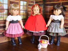 Doll Clothes Pattern Little Red Riding Hood No 1009 by medwelch