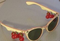 50's sunglasses with bakelite cherries!