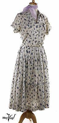50s-Full-Skirt-Vintage-Dress-w-Crinoline-Emile-NY-Tag-Sz-M-Hey-Viv-Retro
