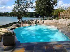 Genoa City, WI - custom infinity edge pool & spa - Quantus Pools quantuspools.com 847-907-4995