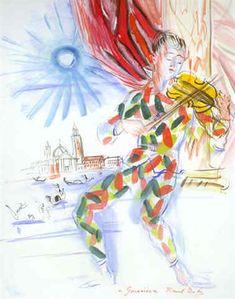 Raoul Dufy (1877-1953, France) | Arlequin à Venise, 1942