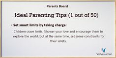 Tips for Ideal Parenting (Tip 1)