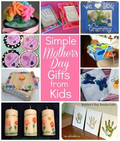 10 Simple Mothers Day gifts kids can make! #MothersDay via @Sara Eriksson W