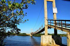Ponte pênsil de Barra do Itapocu - Araquari   Foto de Jaqueline Ronsani #araquari #natureza #prefeituradearaquari