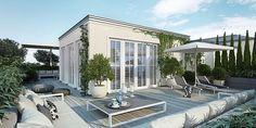 3D ontwerp van luxe dakterras
