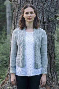 gretel cardigan designed by pam allen / from the glen collection / in quince & co. lark, color iceland