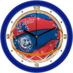 Mens Louisiana Tech Bulldogs - Slam Dunk Wall Clock