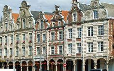 Arras (Pas-de-Calais, France).  Façades de la Grand'Place