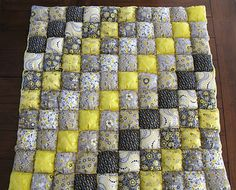 Puff Quilt... I want this.