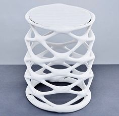 Hot Wire Extensions by Studio Ilio /. Graduate shows 2015: two Royal College of Art graduates have made a series of stools by running an electric current through wires embedded in waste nylon powder from 3D printing #shopperworld #retail #product #productdesign #new #newmaterial #3d #3dprinting #3dprinted #industrialdesign #design #recycle #shopper #art #vision by shopper_world