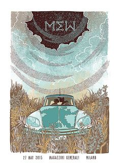 Jungle Indie Rock Music Tumblr • Mew gig poster by Sabrina Gabrielli