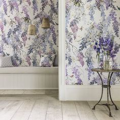 Sanderson Wallpapers | Wisteria Falls Panel B (DWAP216299) | Waterperry Wallpapers