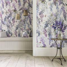 Sanderson Wallpapers | Wisteria Falls Panel B (DWAP216299) | Waterperry Wallpapers