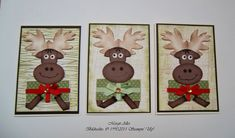 Cute Moose Trio by MargitsSchatztruhe - Cards and Paper Crafts at Splitcoaststampers