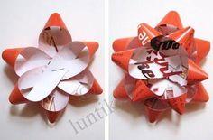 Украшение подарка - бантик из бумаги