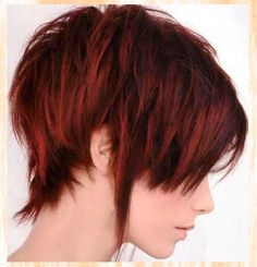 Red Dark Color Ideas for Short Hair