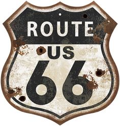 Route 66 Sign, Old Route 66, Vintage Fans, Vintage Metal Signs, Son Birthday Quotes, Poster Drawing, Old Logo, Garage Signs, Forearm Tattoo Men