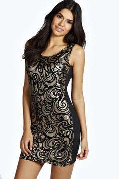 Leola Sequin Bodycon Dress at boohoo.com