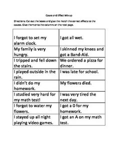 12 Easy Cause and Effect Activities and Worksheets | Simple ...