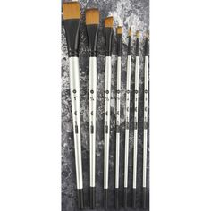 Prima Marketing Finnabair Brush Set 7/PkgSizes: 0, 2, 4, 1/4, 1/2, 3/4, 1