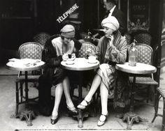 Vintage Paris; fashion, cigarettes, street cafes, beautiful, romantic