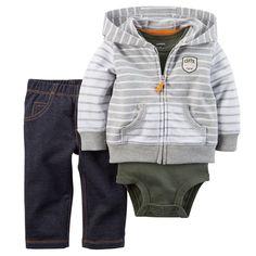 Amazon.com: Carter's Baby Boys' 3 Piece Cardigan Set (Baby): Clothing