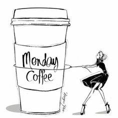 """Monday coffee"" Megan Hess"
