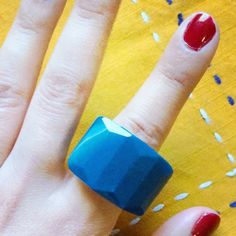 ⭐️SALE⭐️Marble Stone Ring  This pretty blue marble ring features white marble detail throughout (see pics). Made of Marble Stone . Imported and NEW (vintage inspired). Ring size 8. Vintage Jewelry Rings