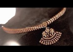 Simple and elegant south Indian Addigai necklace studded with sparkling brilliant cut diamonds in closed setting from Nac jewellers. Diamond Necklace Set, Diamond Jewellery, Diamond Jhumkas, Saree Jewellery, Diy Jewellery, Jewellery Designs, Jewelry Patterns, Jewellery Storage, Ruby Bangles