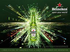 Heineken Open Your World Beer Advertising Campaign Beer Memes, Beer Quotes, Beer Humor, Alcohol Quotes, Alcohol Humor, Funny Alcohol, All Beer, Wine And Beer, Interactive Web Design
