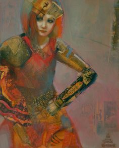 Conquistadora   by Artist Joshua Lee Burbank  http://www.joshuaburbank.com/mixed-media0.html