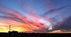 Watercolor by God: Sunset Rogers, AR. Looking down the hill toward western Rogers near Walgreens on Promenade Boulevard.