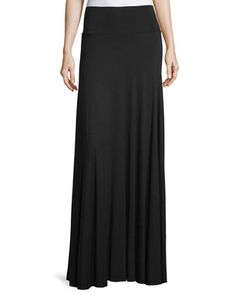Long+Full+Stretch-Jersey+Skirt,+Black,+Plus+Size+by+Rachel+Pally+at+Neiman+Marcus.