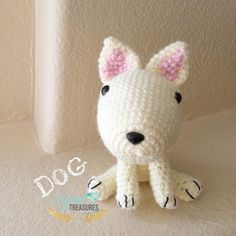 #nationaldogday #dog #bullterrier #crochet #crocheted #handmade #craft #amigurumi #kawaii #yarntreasures #yarnart #followme #あみぐるみ #かわいい by yarntreasures