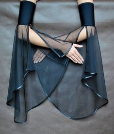 "okaywowcool: ""sheer bell sleeve cuffs """