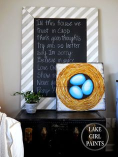 Lake Girl Paints: Painting Tips for Nest and Egg Art
