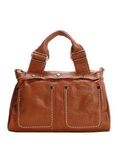 CHENEL LEATHER SHOULDER BAG BROWN $89.00