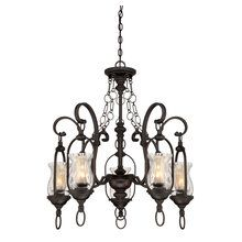 View the Savoy House 1-6721-5 Country / Rustic 5 Light Up Lighting Chandelier with Glass Shades from the Shadwell Collection at LightingDirect.com.