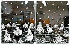 Давно хотелось сделать семейство Снеговичков на зимних окошечках:) Наконец нашла подходящих героев в детских раскрасках и вырезала вытынанки. И вот, что в итоге получилось))) фото 8