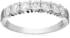 14k White Gold 7-Stone Diamond Ring (3/4 cttw, H-I Color, I1-I2 Clarity), Size 8 Amazon Curated Collection http://www.amazon.com/dp/B000OAG5LY/ref=cm_sw_r_pi_dp_boT2ub1VMWX9T