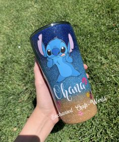 Disney custom Stitch tumbler - Lilo and Stitch - Ohana - Experiment 626 - Stitch - Disney