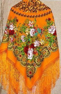 Dream Journal, dream - Amber and Nightshade, yellow Pavloposadskie shawl