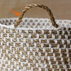 this basket is a similar to what you will make using the pattern for crochet…