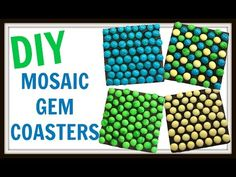 Mosaic Gem Coasters | DIY Project | Another Coaster Friday | Craft Klatch | Gemnique Sponsored - YouTube