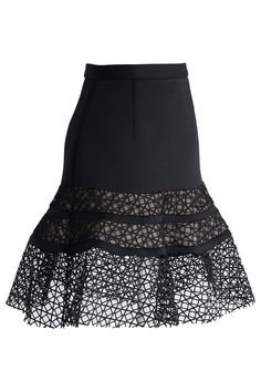 Flattering Mesh Inserted Bud Skirt - Skirt - Bottoms - Retro, Indie and Unique Fashion