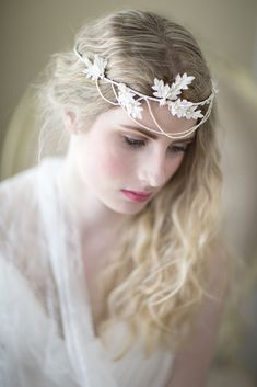 "Wedding Accessories: Hair Adornments by ""Powder Blue Bijoux"" - Munaluchi Bridal Magazine Wedding Headband, Diy Headband, Headbands, Veil Hairstyles, Vintage Glamour, Bridal Hair Accessories, On Your Wedding Day, Veils, The Ordinary"