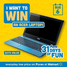 *THIS SWEEPSTAKES HAS ENDED* REPIN if you want a new laptop! #Purex31DaysOfFun