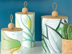 Les jolis papiers peints de Mélissa, directrice artistique de la marque Mues-design, m'ont inspirés ces boites revues et corrigées... Mélangées...