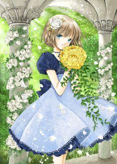 Little manga flower girl