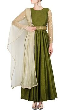 Anarkali, Raw silk anarkali